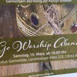 Golden crown advert for Go Worship Berlin 10 March 2018
